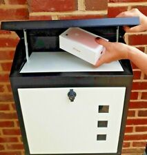 LARGE PARCEL/MAILlBOX Waterproof  lockable, stylish NEVER MISS PARCELS AGAIN-