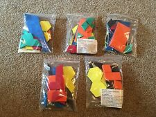 """5 sets Magnetic Pattern Blocks Grades Pre-K and Up """"NEW"""""""
