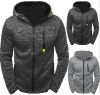 2019 Men Warm Hoodie Hooded Sweatshirt Coat Jacket Outwear Jumper Winter Sweater