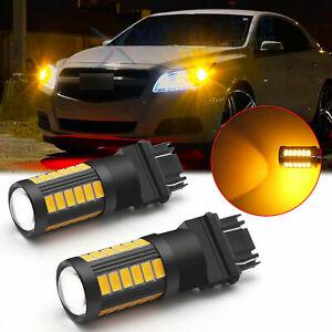 LED 3157 Turn Signal Blinker Parking Side Marker Light Bulb Amber Yellow 3000K