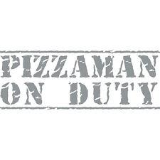 Pizzaman sui dazi Consegna Pizza Funny Finestrini Auto Paraurti Decalcomania In Vinile Adesivo Grigio