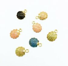 5pcs Mixed shell Metal Charm Pendant Necklace Jewelry  DIY