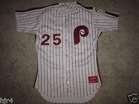 Steve Lake #25 Philadelphia Phillies 1990 MLB Rawlings Game Used Worn Jersey 44