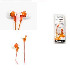Panasonic RP-HJE120-D Inner Ear Earbud RPHJE120 Orange/GENUINE