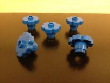 LEGO NEW Bulk Lot - 10 Blue Flowers 1x1 (2x2 total size) Six Sides