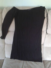 Womens Size 12 - Black One Sleeve Stretch Short Party Dress - Designer - Giant