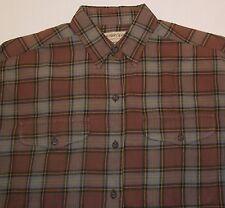 Calvin Klein Sport Mens Boys Brown Casual Long Sleeve Pocket Cotton Shirt S