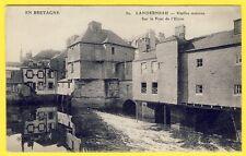 cpa BRETAGNE 29 - LANDERNEAU (Finistère) Vieille Maison sur le PONT de l'ELORN