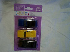 VINTAGE WAL-MART 3 PIECE DIE CAST CARS SEALED,bmw,ford,yellow ferrari,easter