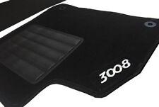 Set 4 pezzi tappeti su misura in moquette Peugeot 3008 dal 2009 al 2016