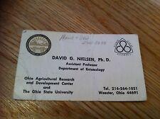 Rare old Vintage Business Card Professor Of Entomology Ohio State University