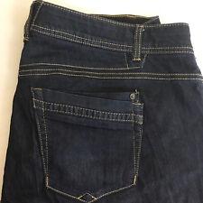 Democracy Women's Ab Technology Stretch Waist Blue Dark Wash Jeans Size 18W