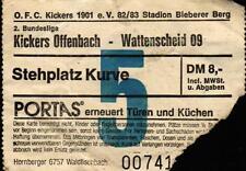 Ticket II. BL 82/83 Kickers Offenbach - SG Wattenscheid 09, 20.11.1982