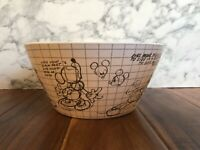 Disney Mickey Mouse Sketchbook Salad Bowls BAMBOO Eco-Friendly