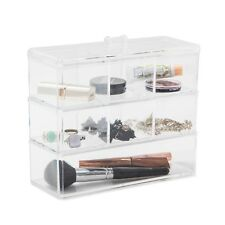 Acrylic Makeup Organiser 3 LARGE Stackable Jewellery Cosmetic Storage Display