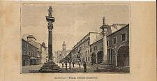 Stampa antica RAVENNA Piazza Vittorio Emanuele Romagna 1899 Old antique print