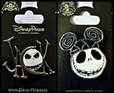 Disney 2 Pin Lot NBC Nightmare BEFORE Christmas JACK signature + mickey ears