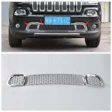 ABS Chrome Front bumper Mesh Grill For Jeep Cherokee 2014 2015 2016 2017-3pcs