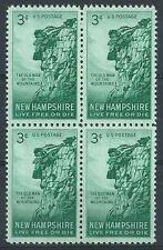 US 1949 Sc# 1068 Great Stone mountain of Old man face New Hampshire block 4 MNH
