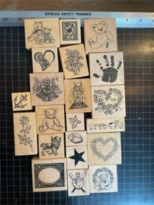 Vintage PSX Rubber Stamps lot of 20 mixed THEMED free USA ship mntd