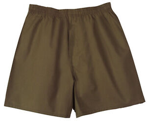 boxer shorts gi type male mens brown army rothco 157 various sizes