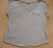 New Look Cap Sleeve Hip Length No Pattern Women's Tops & Shirts