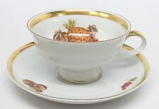 Jaeger - Harvest - Pineapple & Fruit Cup & Saucer - Golden Crown E&R 1886 - A