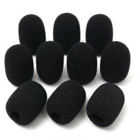 10PCS Microphone Headset Grill Windscreen Sponge Foam Black Mic Cover Hot