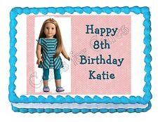 American Girl McKenna edible cake image party cake topper cake image sheet