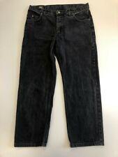 N260 MENS LEE BROOKLYN FADED BLACK STRAIGHT LEG DENIM JEANS UK XL W38 L30
