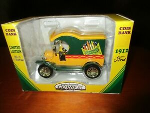 1912 Ford Crayola Delivery Car Limited Edition Bank Heavy Die Cast Metal 1/24