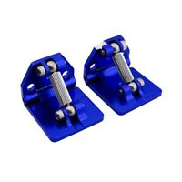 Hot Racing SPN311AR06 Blue Aluminum Adjustable Trims Tabs Traxxas Spartan