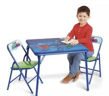 NEW Nick Jr. PJ Masks Activity Table Set w/ Two Chairs, Washable & Foldable
