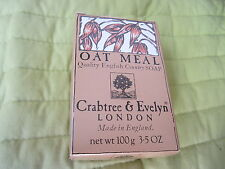 Crabtree & Evelyn London Oat Meal soap, 100g 3.5 oz, Made in England, 1986