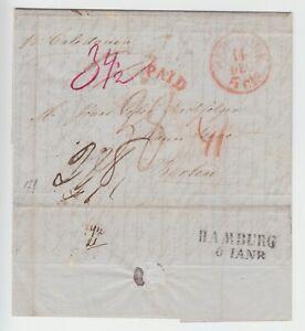 Transatlantikpost, 1846 ab New York mit der 'Caledonia' (von Boston) nach Berlin