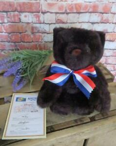 2001 MERRYTHOUGHT COLLECTORS BLACK TEDDY BEAR HOPE 911 THIS MORNING APPEAL