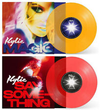 Kylie Minogue 2 x 7'' Singles 'Say Something' (Red Vinyl) 'Magic' (Yellow Vinyl)