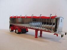 DCP 1/64 SCALE MAC FRAMELESS DUMP TRAILER SPREAD AXLE/CHROME/RED FRAME & TARP