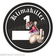 Klimakiller Aufkleber/Sticker/Oldschool/US Car/Retro/USA/V8/Rockabilly/Plakette