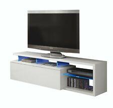 Mobile TV sala da pranzo salotto soggiorno base televisione madia bianco con LED