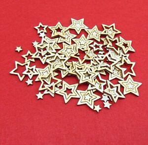 3 in 1 Sterne aus Holz Weihnachten Basteln Kinder Sternenhimmel 100 insgesamt