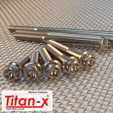 M6 Titanium Motorsport Hex Drilled Head Flange Bolt, 10 to 100mm  with 1mm pitch