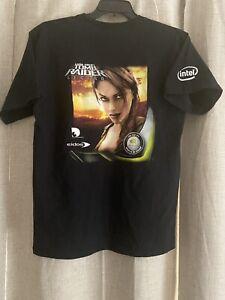 Vintage Lara Croft Tomb Raider Legend Promo Shirt Sz Large Intel Nvidia Eidos
