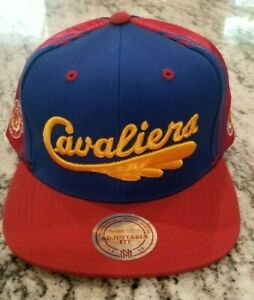NEW CLEVELAND CAVALIERS NBA MITCHELL NESS MULTICOLOR SNAPBACK ADJUSTABLE HAT CAP