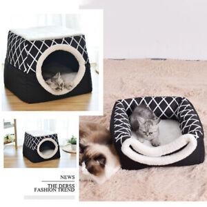 New Small Pet Dog Cat Soft Fleece Warm Cotton Bed House Cozy Mat Pad Nest L Nd