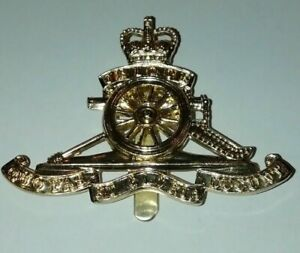 Royal Artillery Issue Cap Badge, Large badge for use in Peak Cap Genuine issue