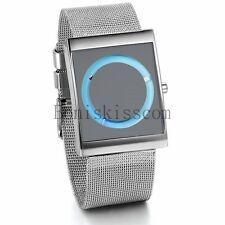 Fashion Men Women Round Dial Analog Quartz Wrist Watch Stainless Steel Watches