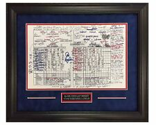 Chicago Cubs World Series Champs 7th Game Scoresheet   Deluxe Suede Framed 16x20