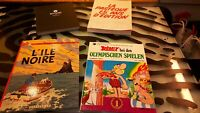 Nocturne - Pasteque - Tintin - Asterix French Graphic Novels Lot of 4 Good Condi