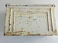 EARLY WW2 T4 .30 CALIBER TANK ARMORED VEHICLE AMMUNITION CHEST METAL AMMO BOX